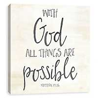 With God All Things Are Possible Canvas Art Print