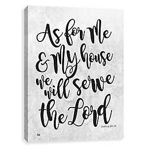 As For Me and My House Canvas Art Print