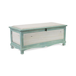 Blue Shabby Chic Storage Bench