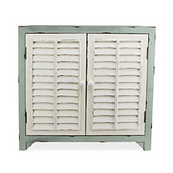 Coastal Green Shutter 2-Door Cabinet