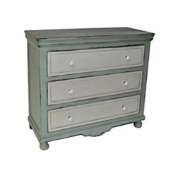 Coastal Green 3-Drawer Chest