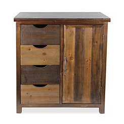 Dark Brown Rustic Wood Cabinet