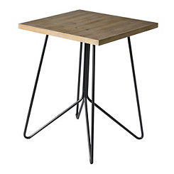 Hairpin Wood Top Accent Table