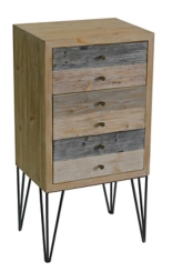 Multi-Tonal Wood 3-Drawer Chest