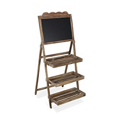 Wooden Chalkboard 3-Tier Plant Stand