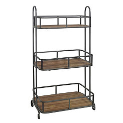 Metal and Wood 3-Tier Shelf