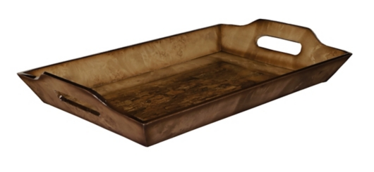Brown Weathered Wood Tray