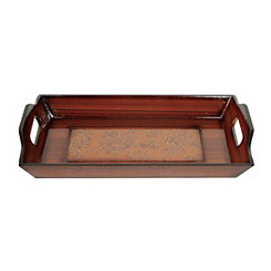 Rectangular Natural Decorative Wood Tray