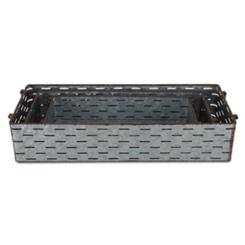 Galvanized Metal Rectangular Trays, Set of 3
