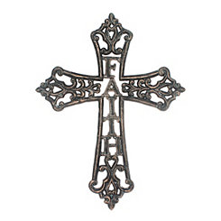 Faith Weathered Pewter Cast Iron Cross