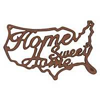 Home Sweet Home Rusted Aluminum Wall Plaque