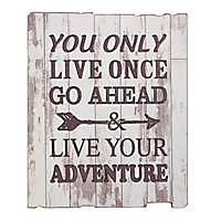 Live Your Adventure Wall Plaque