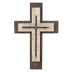 Weathered Wood and Metal Cross