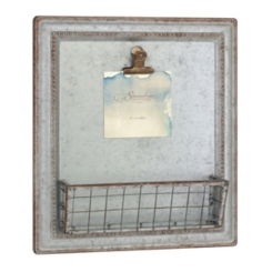 Farmhouse Galvanized Metal Wall Organizer