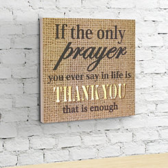 Burlap Thank You Pre-Lit Wall Plaque