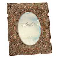 Vintage Copper Floral Tabletop Frame, 5x7