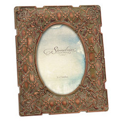 Vintage Copper Floral Tabletop Frame, 5x7