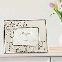 Worn White Ceramic Faith Tabletop Frame, 6x4