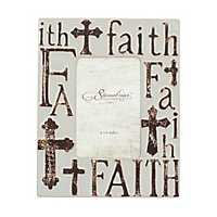 Worn White Ceramic Faith Tabletop Frame, 4x6