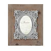 Natural Wood Baroque Detailed Frame, 4x6