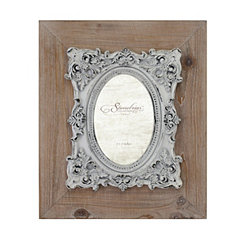 Natural Wood Baroque Detailed Frame, 4x6