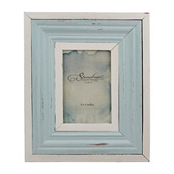 Nautical Blue and White Wood Frame, 4x6