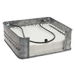 Galvanized Metal Napkin Holder