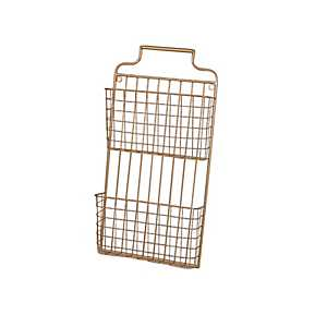 Gold 2-Tiered Metal Wall Organizer