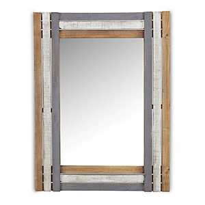 Multi-Tonal Wood Framed Mirror