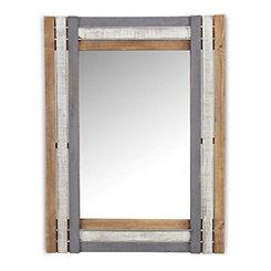 Multi-Tonal Wood Framed Mirror