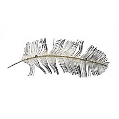 Peacock Feather Metal Wall Plaque