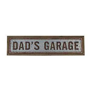 Dad's Garage Galvanized Metal Wall Plaque