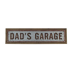 Dad's Garage Galvanized Metal Wall Plaque