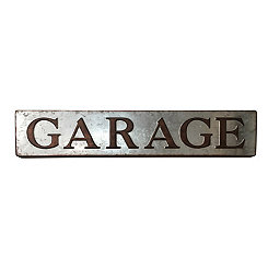 Galvanized Metal Garage Sign Plaque