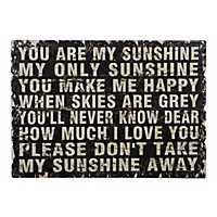 You Are My Sunshine Distressed Wood Wall Plaque