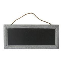 Galvanized Metal Hanging Chalkboard