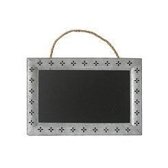 Galvanized Metal Petal Framed Hanging Chalkboard