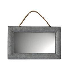 Rectangular Galvanized Metal Wall Mirror