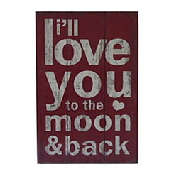 I'll Love You to the Moon and Back Wall Plaque