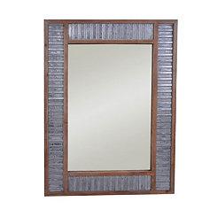 Urban Galvanized Metal and Wood Wall Mirror