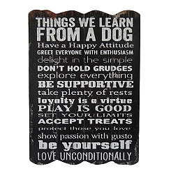 Things We Learn From a Dog Wooden Wall Plaque