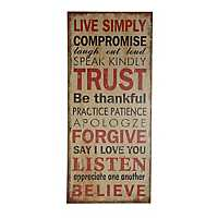 Live Simply Wooden Wall Plaque