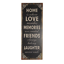 Home is Where Love Resides Wooden Wall Plaque