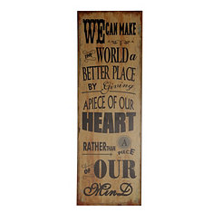 We Can Make the World a Better Place Wall Plaque