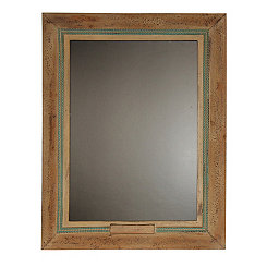 Brown and Turquoise Framed Chalkboard