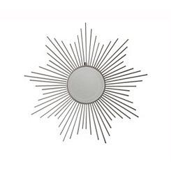 Metal Sunburst Silver Wall Mirror