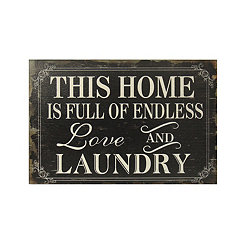 Endless Love and Laundry Wooden Wall Plaque