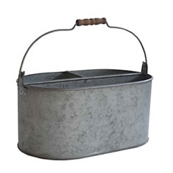 Gray Metal Utensil Caddy