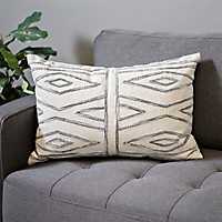 Camden Geometric Embroidered Pillow