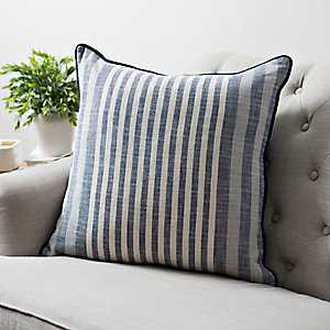 Navy Graduated Stripe Pillow